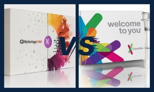 Diffrenece between MyHeritage and 23andMe